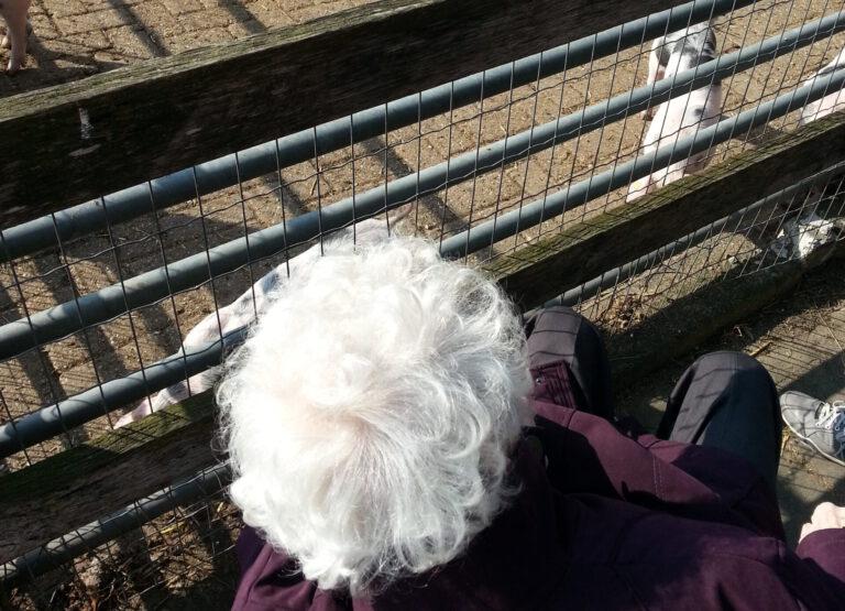 Frisse neus halen met mijn moeder van tachtig
